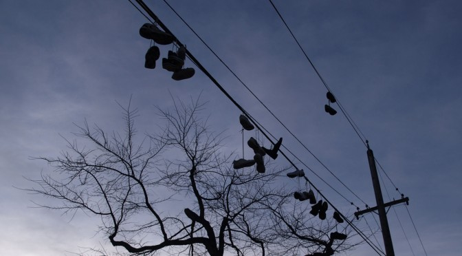 Shoe tossing